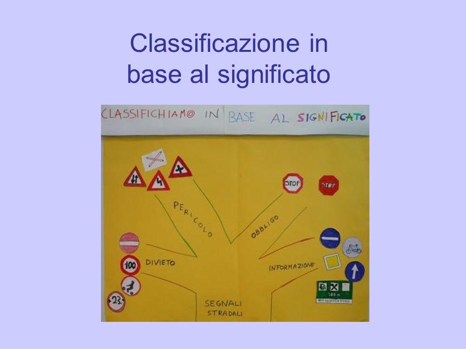 Classificazione in base al significato
