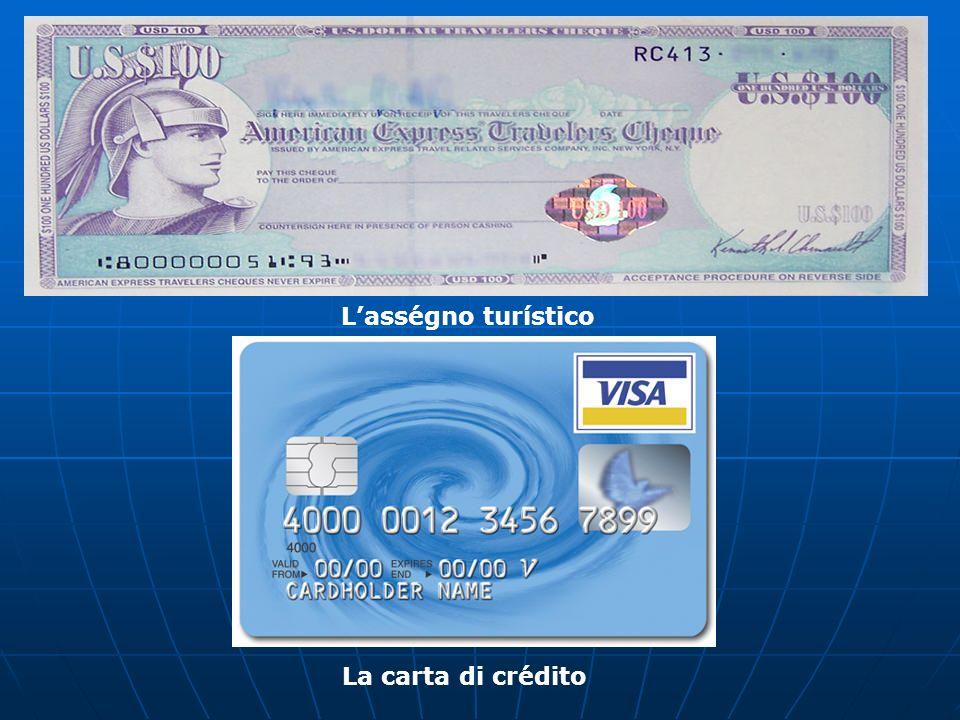 Lasségno turístico La carta di crédito