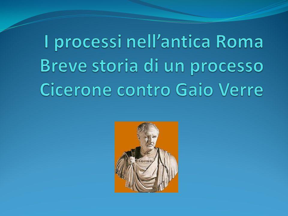 Lo svolgimento dei processi nellantica Roma ed i tipi di processi.