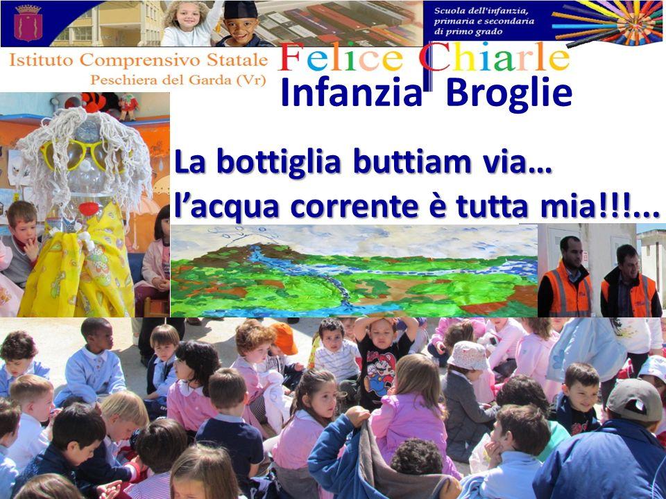 Infanzia Broglie La bottiglia buttiam via… lacqua corrente è tutta mia!!!...