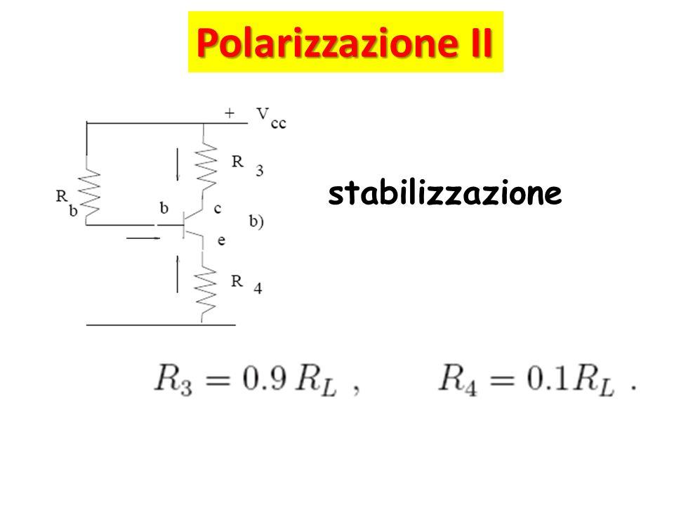 Polarizzazione II stabilizzazione