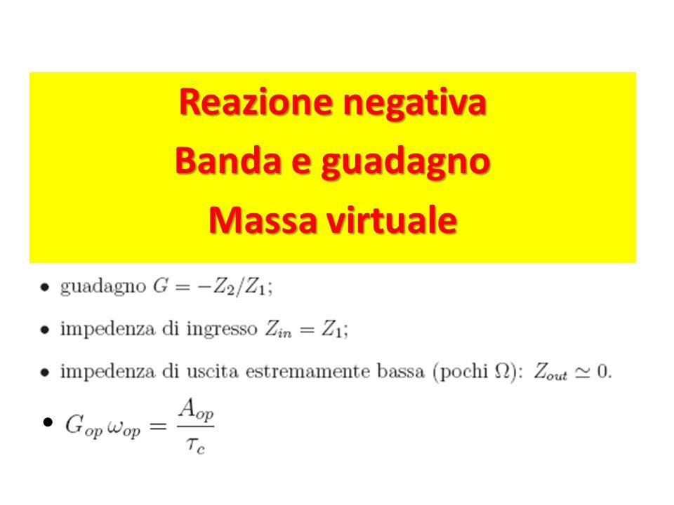 Reazione negativa Banda e guadagno Massa virtuale