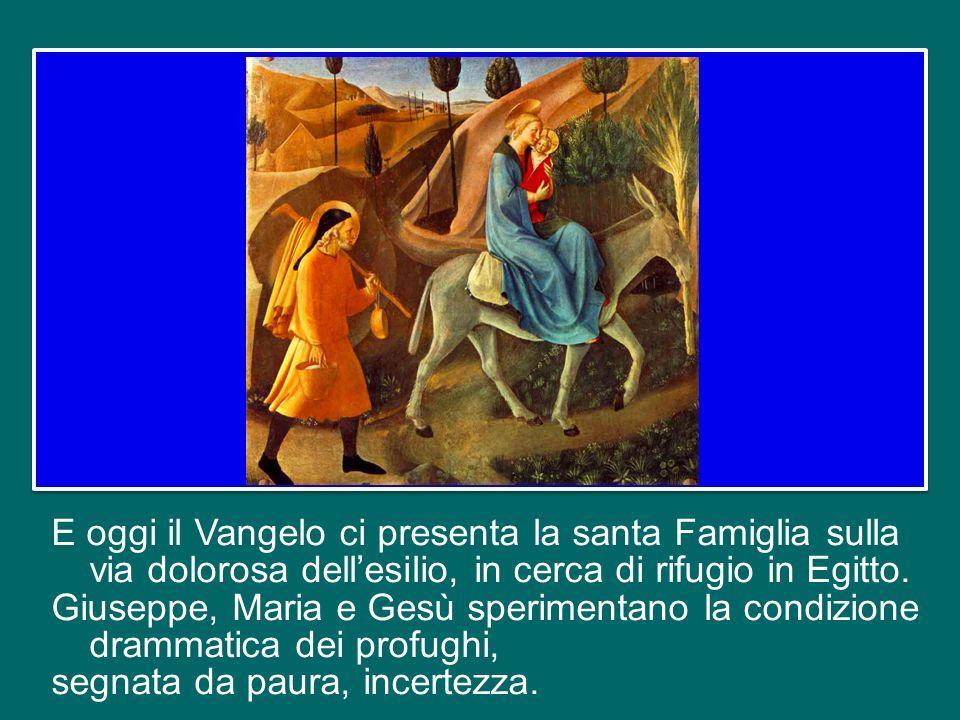 In effetti, ogni presepio ci mostra Gesù insieme con la Madonna e san Giuseppe, nella grotta di Betlemme. Dio ha voluto nascere in una famiglia umana,