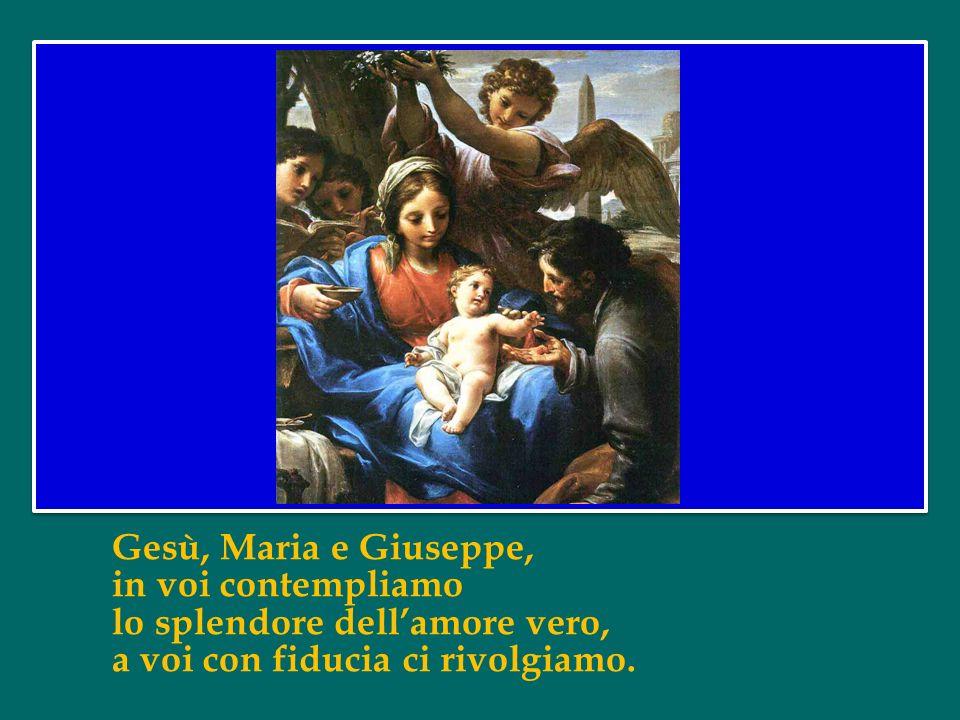 Per questo oggi, festa della Santa Famiglia, desidero affidare a Gesù, Maria e Giuseppe questo lavoro sinodale, pregando per le famiglie di tutto il m