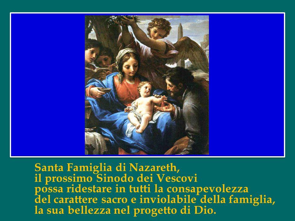 Santa Famiglia di Nazareth, mai più nelle famiglie si faccia esperienza di violenza, chiusura e divisione: chiunque è stato ferito o scandalizzato con