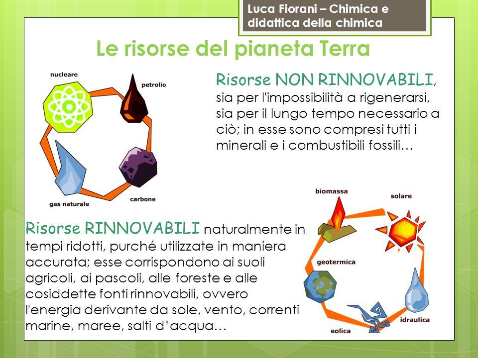Luca Fiorani – Chimica e didattica della chimica Risorse RINNOVABILI naturalmente in tempi ridotti, purché utilizzate in maniera accurata; esse corris