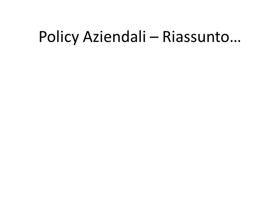 Policy Aziendali – Riassunto…