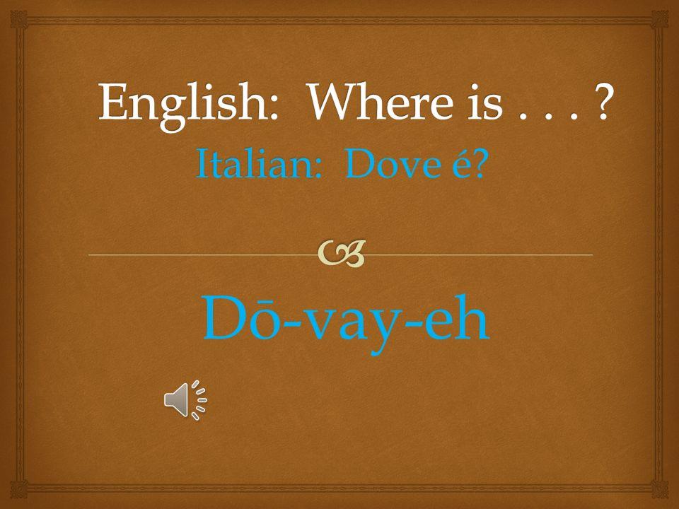 Italian: No, grazie No, Grah-zee-ā