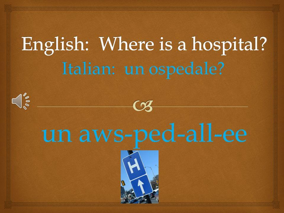 Italian: Italian: un negozio di alimentari? un neh-gō-zee-ō dee all-i-men-tar-ee