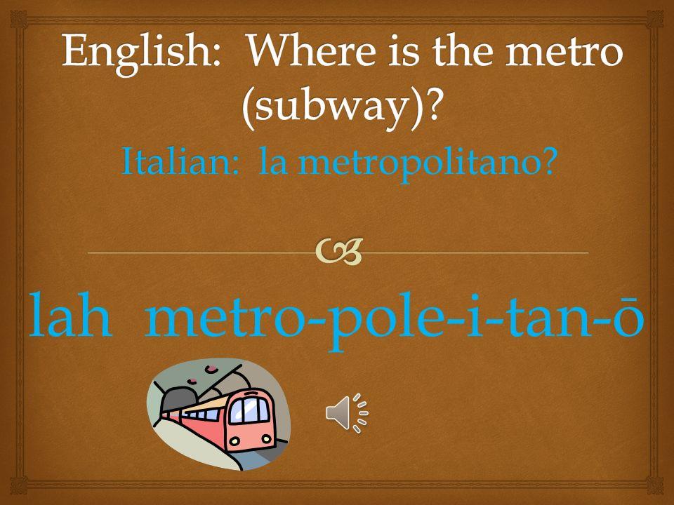 Italian: Italian: il mercato? ill mare-cot-oh
