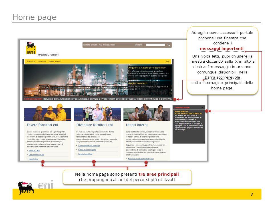 Home page 3 Ad ogni nuovo accesso il portale propone una finestra che contiene i messaggi importanti. Una volta letti, puoi chiudere la finestra clicc