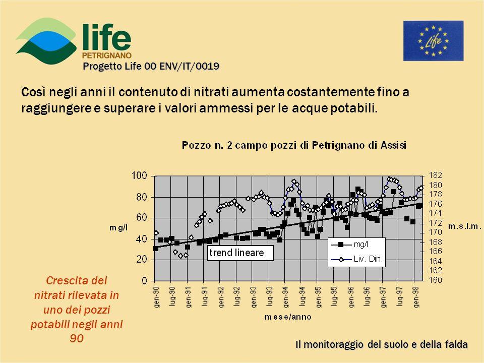 Il monitoraggio del suolo e della falda Progetto Life 00 ENV/IT/0019 PIEZOMETRIE 1974 E 1987 a confronto