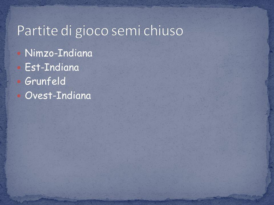 Nimzo-Indiana Est-Indiana Grunfeld Ovest-Indiana