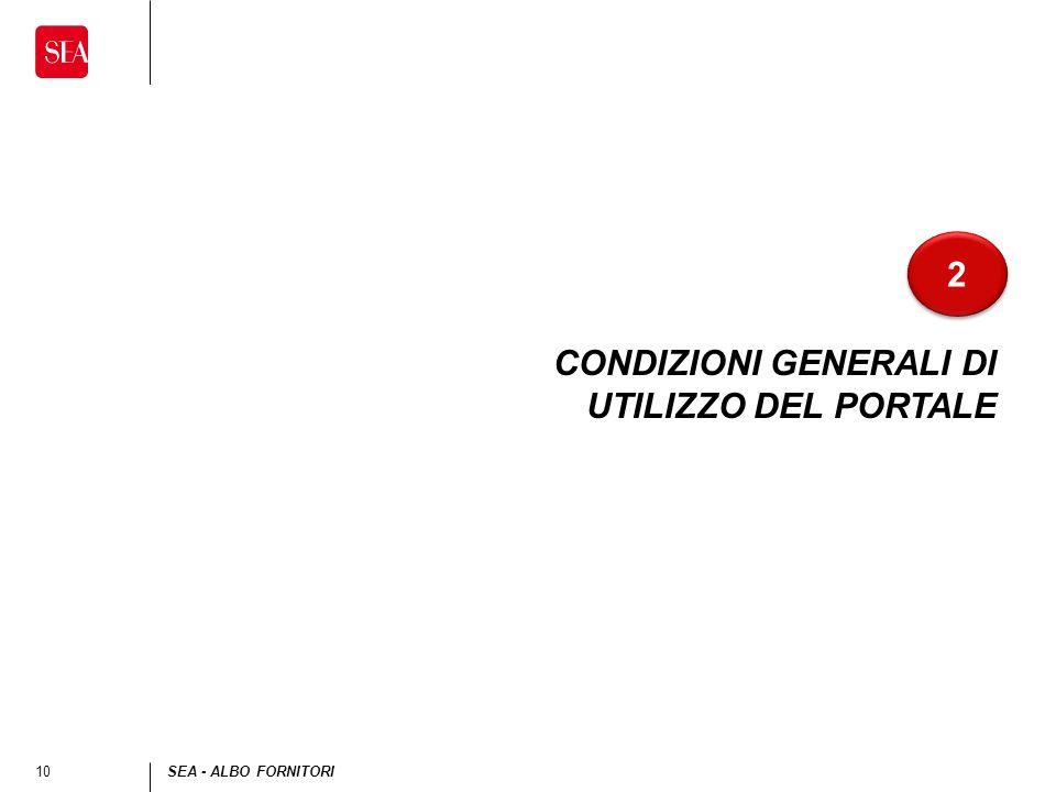 10SEA - ALBO FORNITORI CONDIZIONI GENERALI DI UTILIZZO DEL PORTALE 2 2