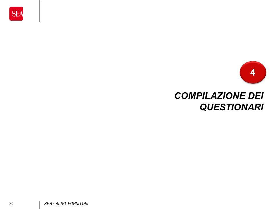 20SEA - ALBO FORNITORI COMPILAZIONE DEI QUESTIONARI 4 4