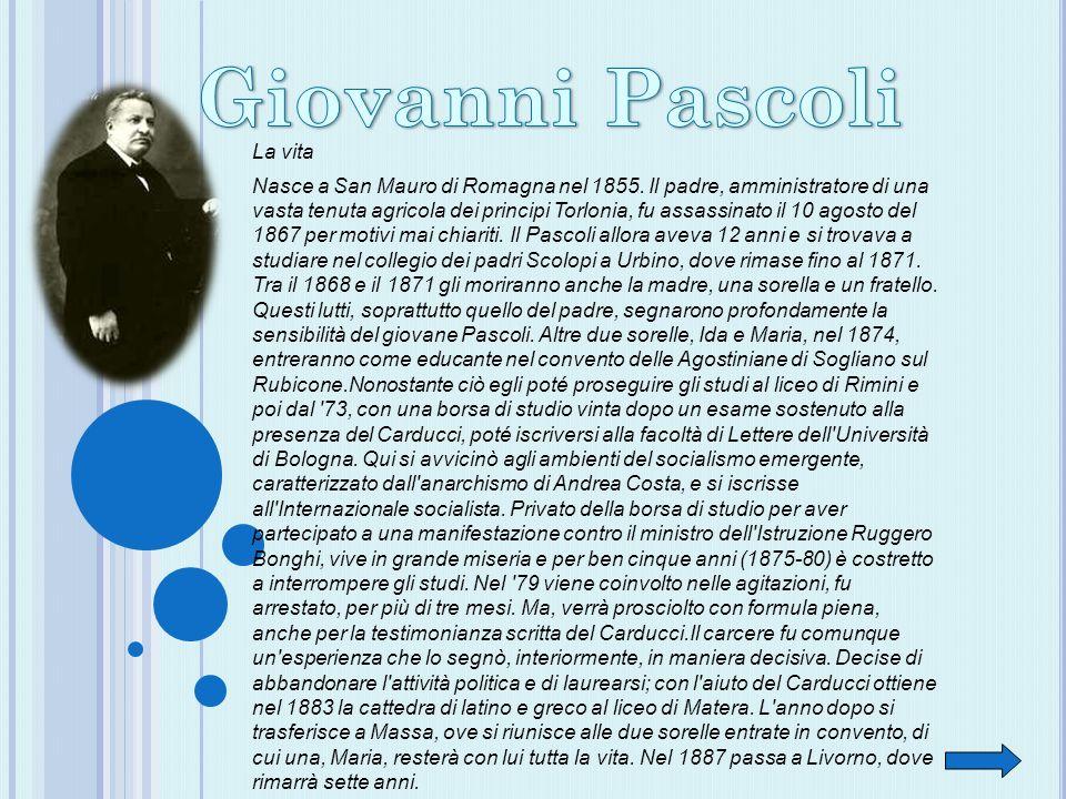 La vita Nasce a San Mauro di Romagna nel 1855. Il padre, amministratore di una vasta tenuta agricola dei principi Torlonia, fu assassinato il 10 agost