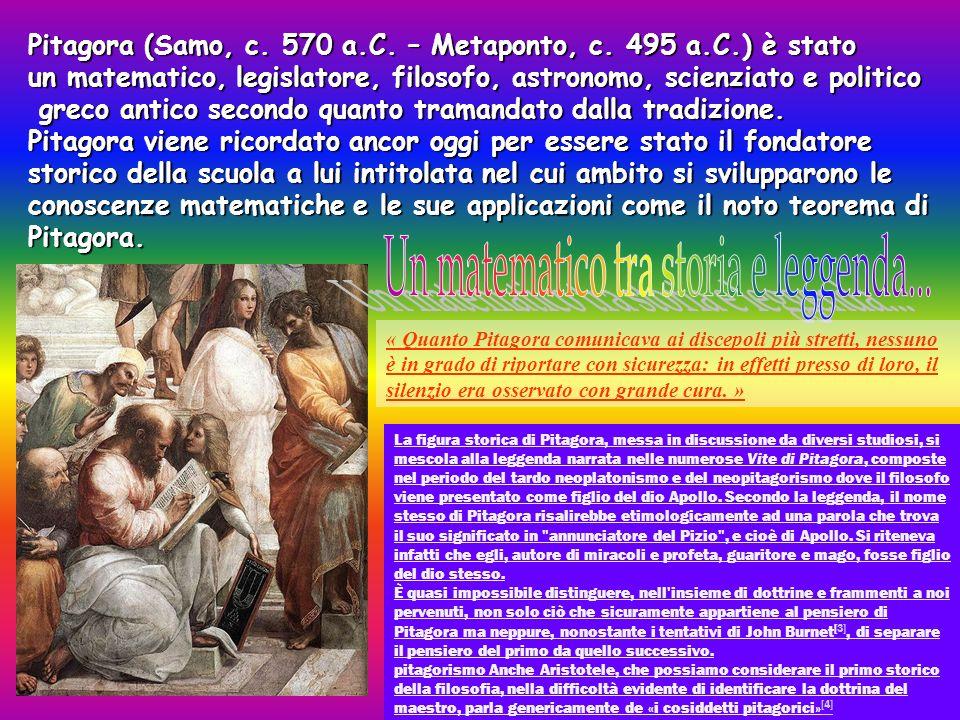 Pitagora (Samo, c.570 a.C. – Metaponto, c.