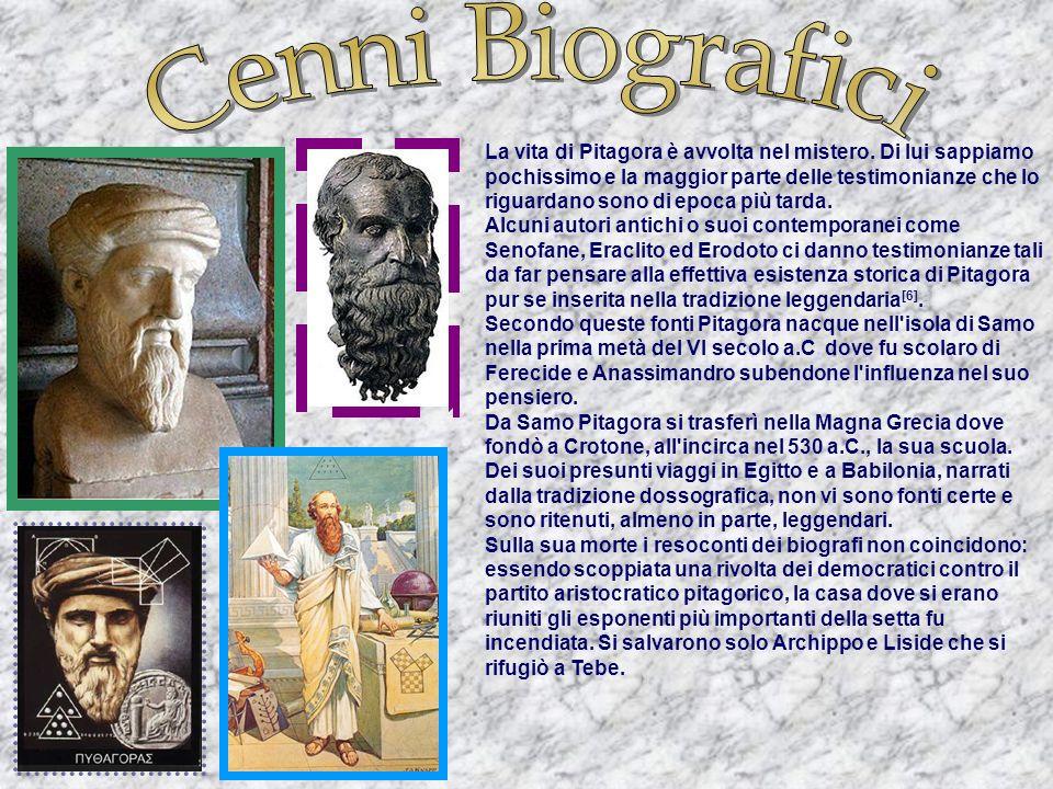 Pitagora (Samo, c. 570 a.C. – Metaponto, c. 495 a.C.) è stato un matematico, legislatore, filosofo, astronomo, scienziato e politico greco antico seco