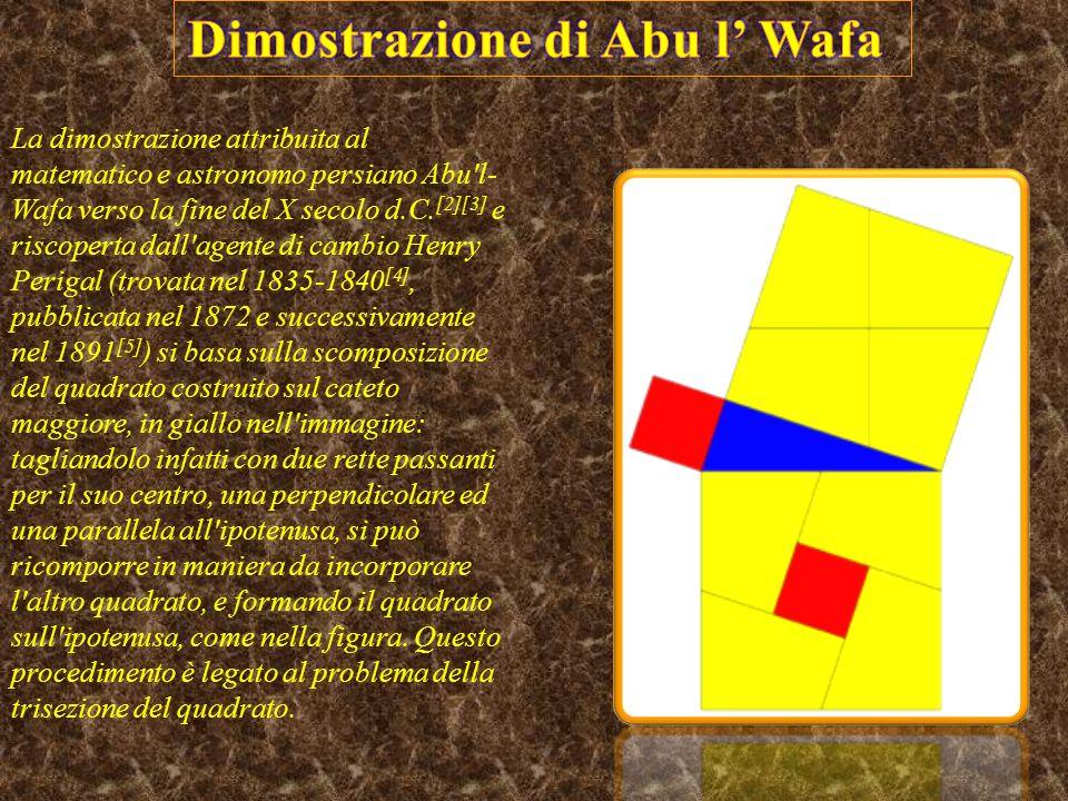 La dimostrazione attribuita al matematico e astronomo persiano Abu l- Wafa verso la fine del X secolo d.C.
