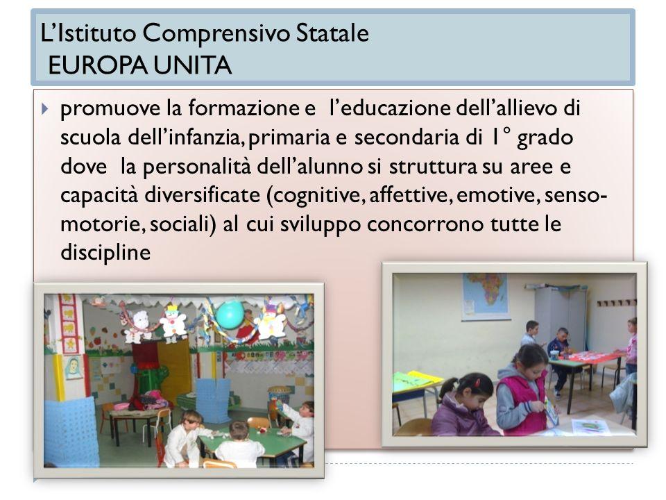 LIstituto Comprensivo Statale EUROPA UNITA promuove la formazione e leducazione dellallievo di scuola dellinfanzia, primaria e secondaria di 1° grado