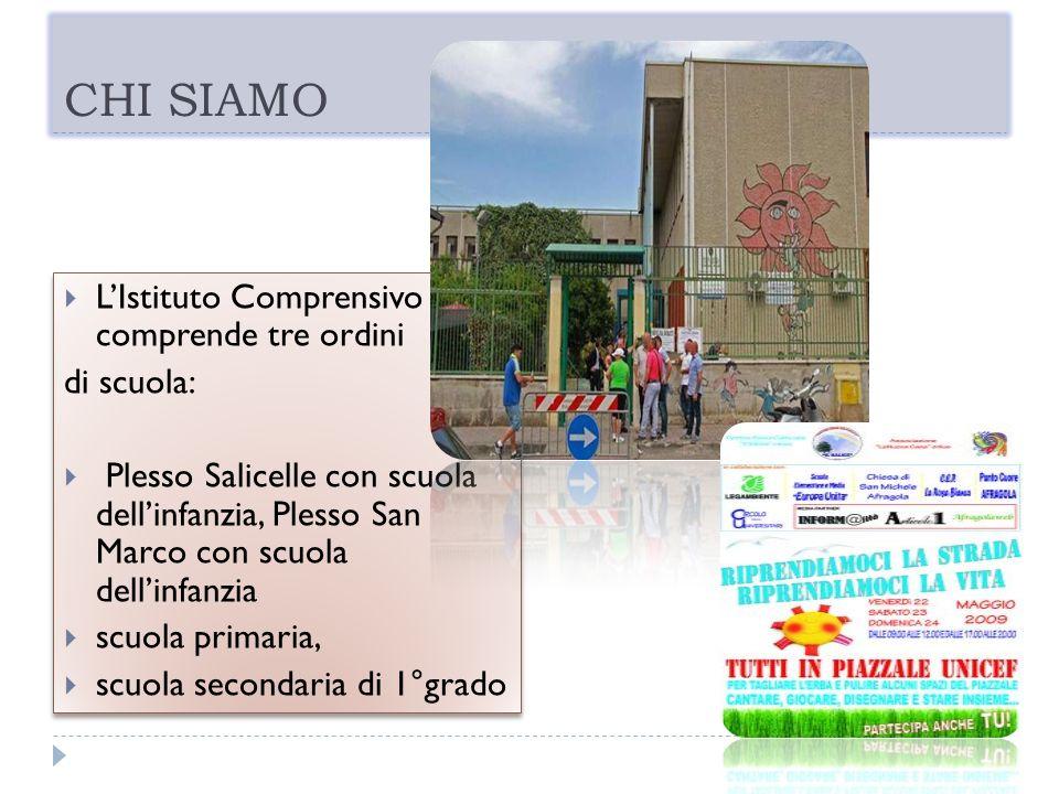 CHI SIAMO LIstituto Comprensivo comprende tre ordini di scuola: Plesso Salicelle con scuola dellinfanzia, Plesso San Marco con scuola dellinfanzia scu