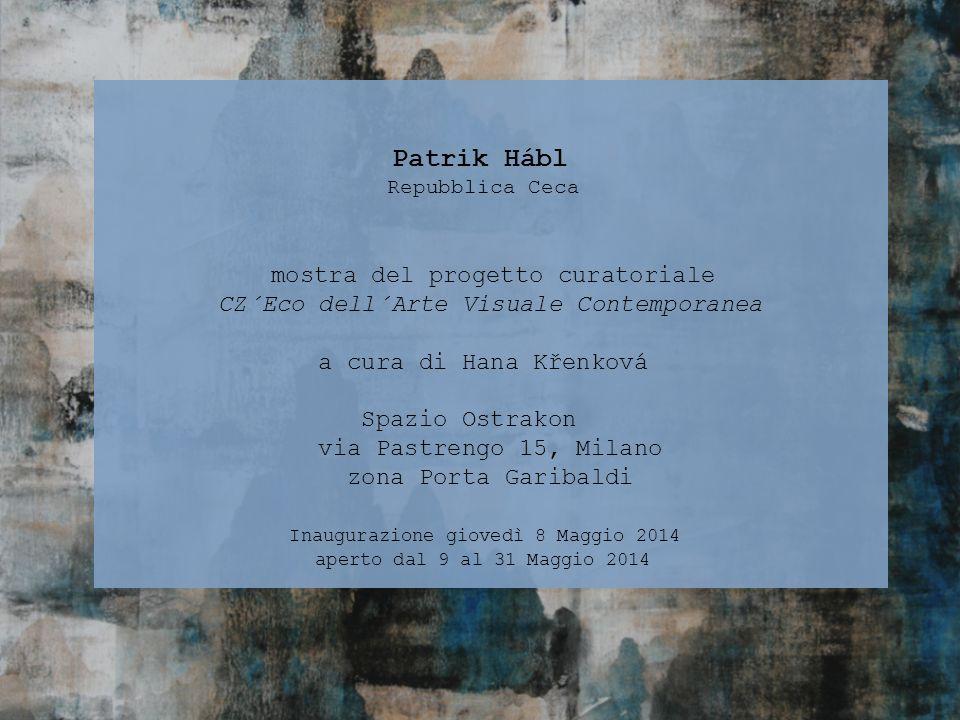 Patrik Hábl Repubblica Ceca mostra del progetto curatoriale CZ´Eco dell´Arte Visuale Contemporanea a cura di Hana Křenková Spazio Ostrakon via Pastren