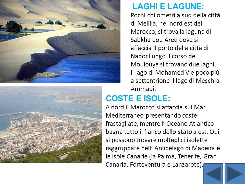 LAGHI E LAGUNE: Pochi chilometri a sud della città di Melilla, nel nord est del Marocco, si trova la laguna di Sabkha bou Areq dove si affaccia il por