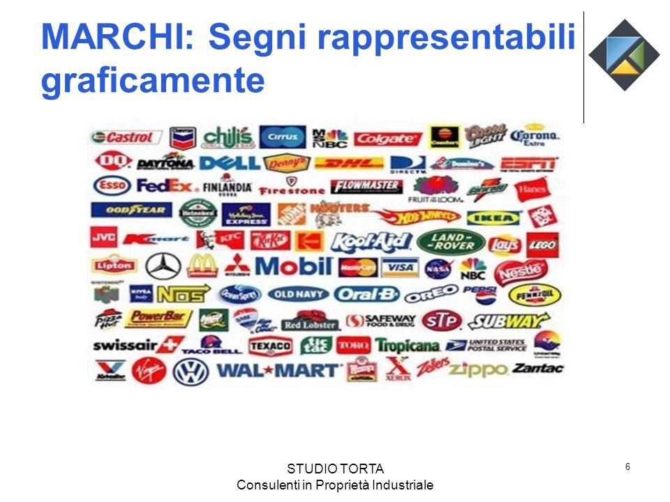 MARCHI: Segni rappresentabili graficamente 6 STUDIO TORTA Consulenti in Proprietà Industriale