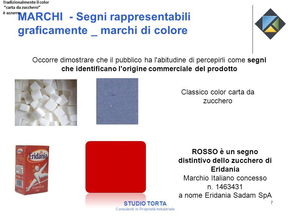 MARCHI - Segni rappresentabili graficamente _ marchi di colore Occorre dimostrare che il pubblico ha l'abitudine di percepirli come segni che identifi