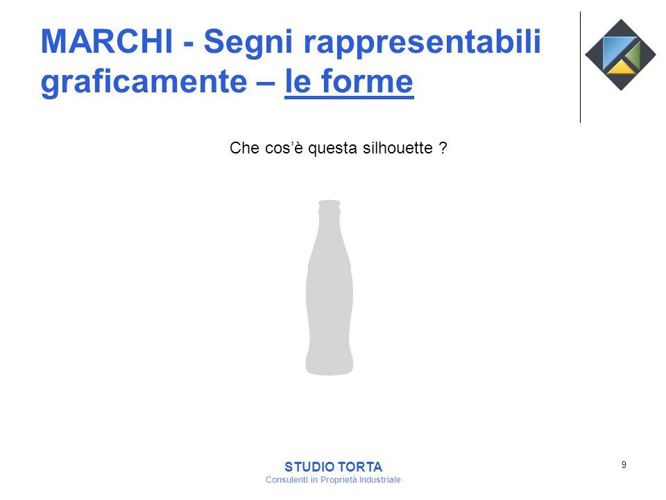 MARCHI - Segni rappresentabili graficamente – le forme Che cosè questa silhouette ? 9 STUDIO TORTA Consulenti in Proprietà Industriale