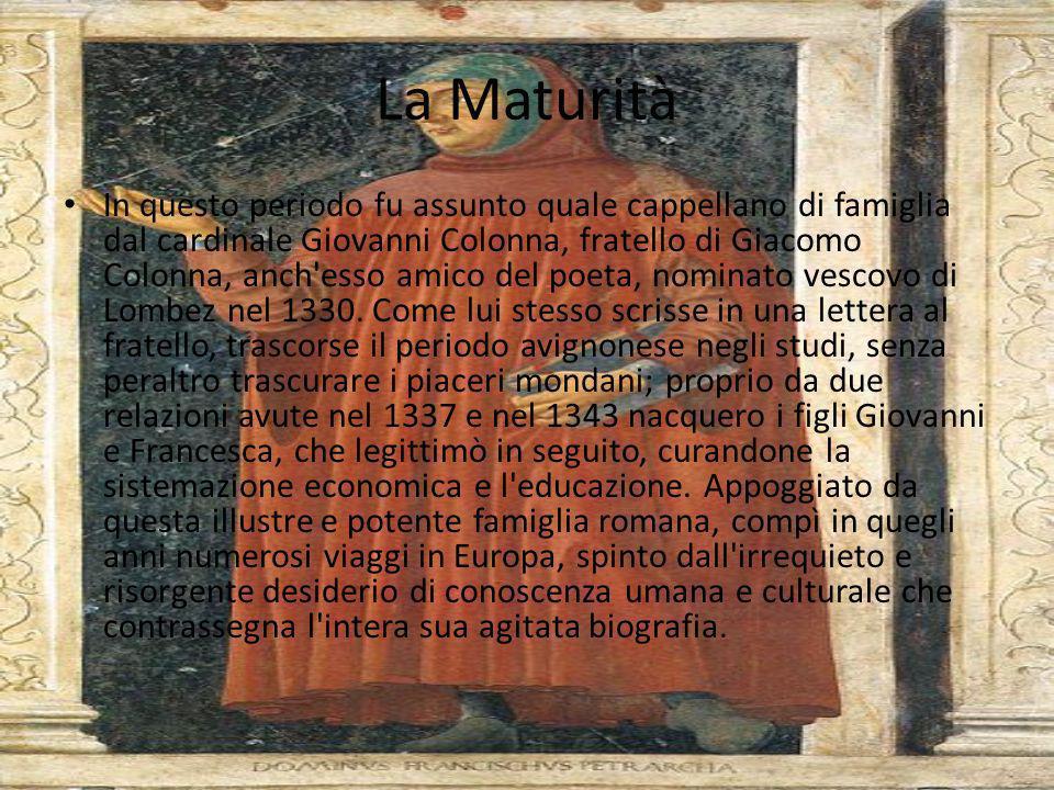 Lincontro con Laura Malgrado le inclinazioni letterarie, manifestate precocemente nello studio dei classici e in componimenti d'occasione, Francesco,