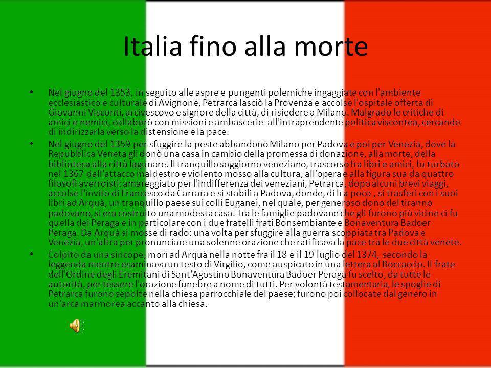 Da Napoli a Milano Verso la fine del 1343 ritornò, per incarico del Papa, a Napoli, ripassò da Parma e si recò, infine, a causa della guerra che turba