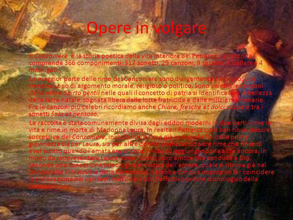 Italia fino alla morte Nel giugno del 1353, in seguito alle aspre e pungenti polemiche ingaggiate con l'ambiente ecclesiastico e culturale di Avignone