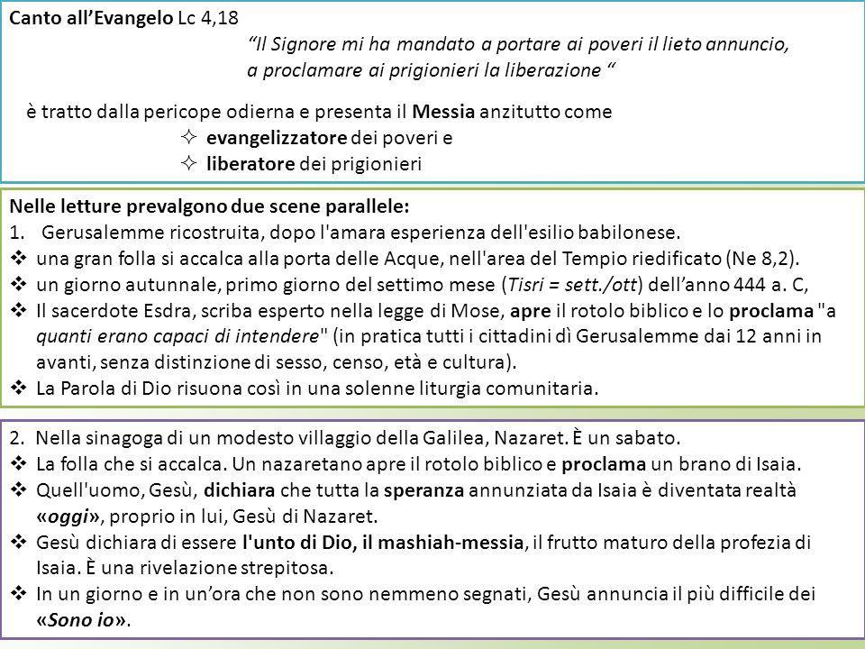 Tre sono i verbi fondamentali che reggono questa proclamazione della Parola: «leggere» la Bibbia, ma non in una qualsiasi maniera: si parla, infatti, di una lettura «a brani distinti».