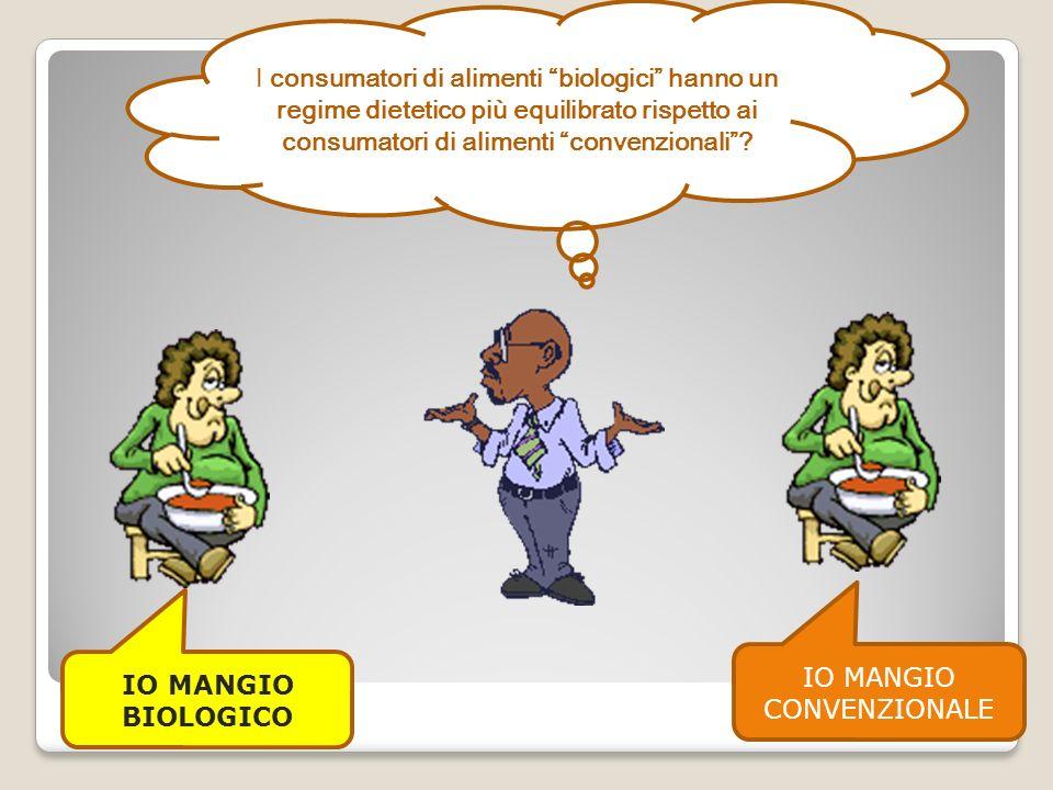 I consumatori di alimenti biologici hanno un regime dietetico più equilibrato rispetto ai consumatori di alimenti convenzionali.