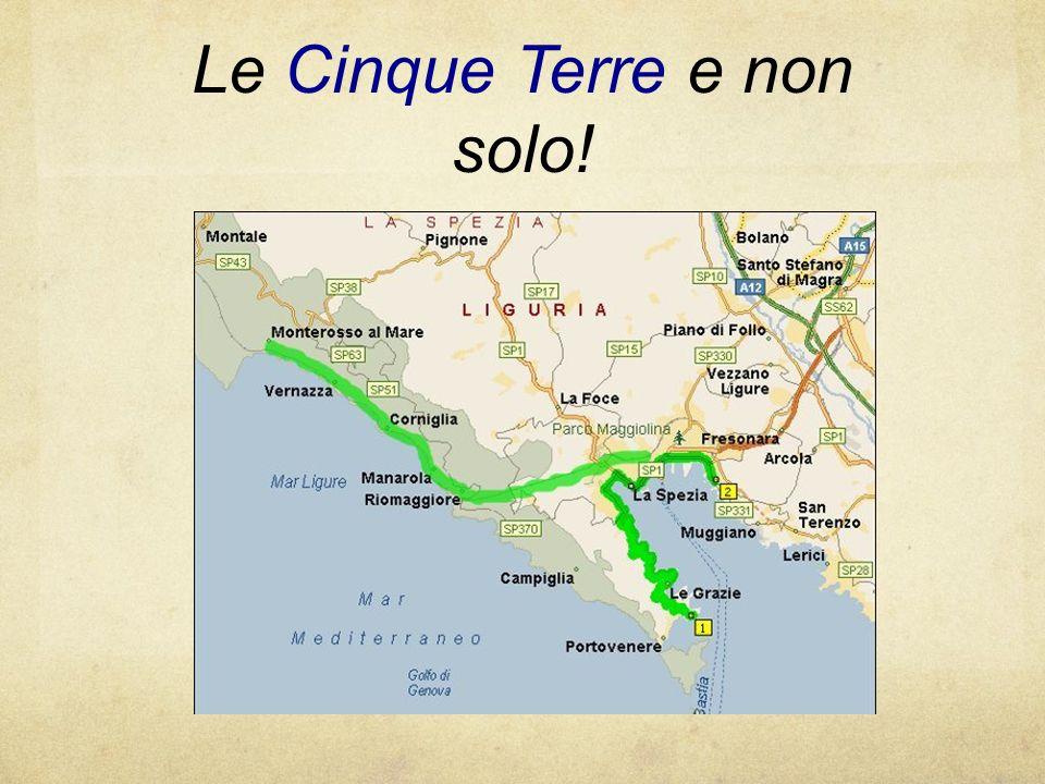 La cartina precedente illustra le Cinque Terre ed è inoltre raffigurata anche Fresonara dove vi trovate ora.