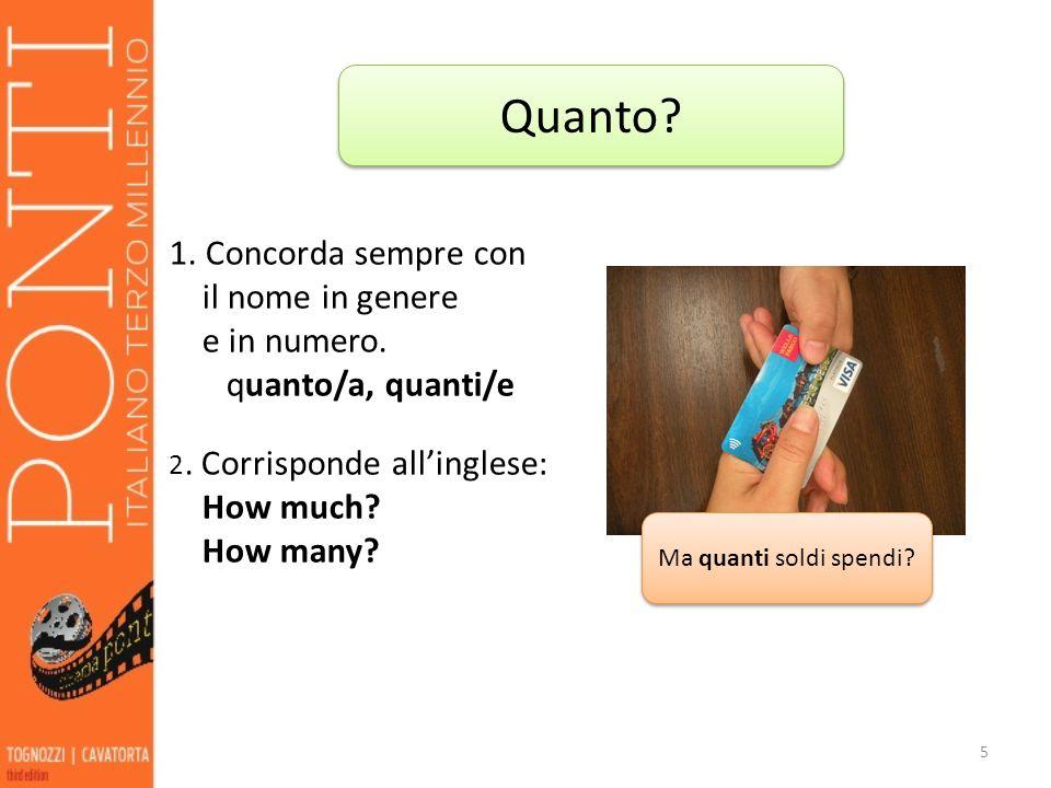 6 I pronomi interrogativi si usano per formare delle domande, come gli aggettivi interrogativi.