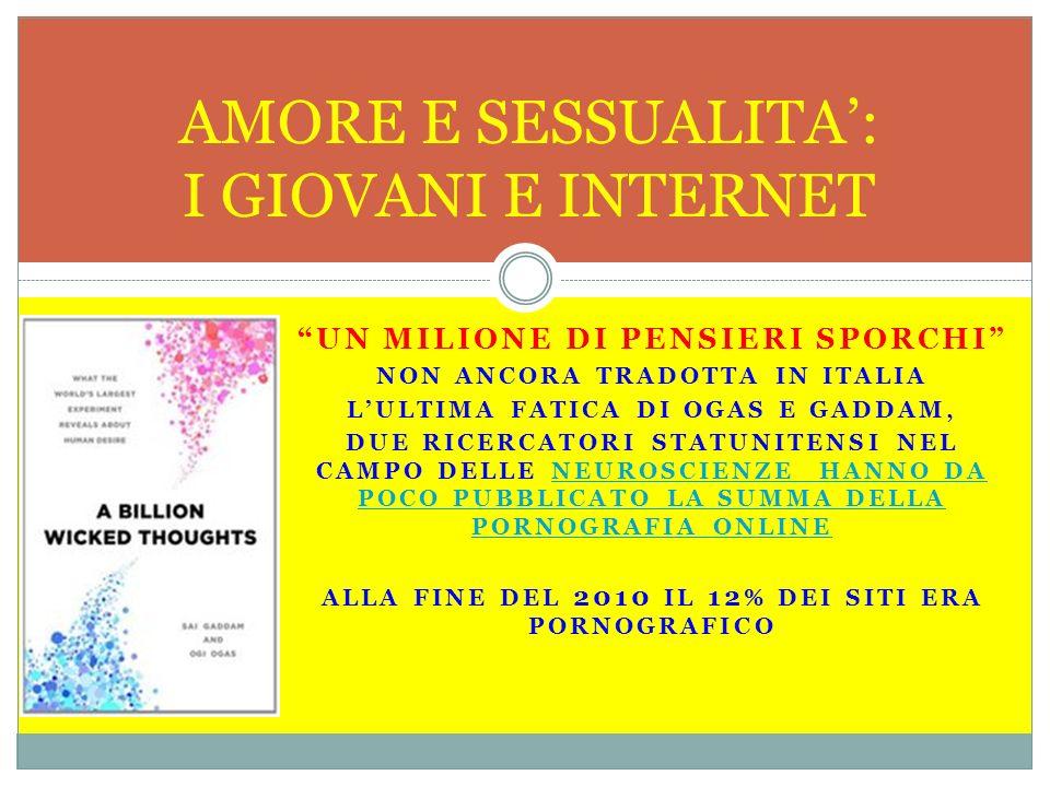 UN MILIONE DI PENSIERI SPORCHI NON ANCORA TRADOTTA IN ITALIA LULTIMA FATICA DI OGAS E GADDAM, DUE RICERCATORI STATUNITENSI NEL CAMPO DELLE NEUROSCIENZ