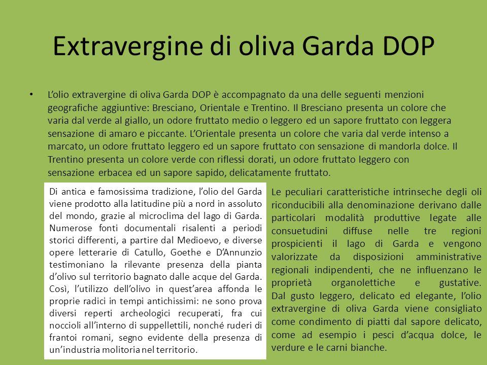 Extravergine di oliva Garda DOP Lolio extravergine di oliva Garda DOP è accompagnato da una delle seguenti menzioni geografiche aggiuntive: Bresciano,