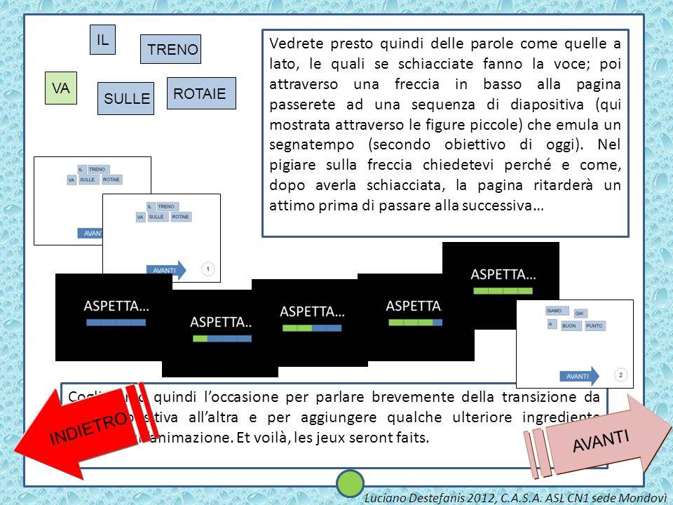 2 AVANTI SIAMO GIA A BUONPUNTO Luciano Destefanis 2012, C.A.S.A. ASL CN1 sede Mondovì