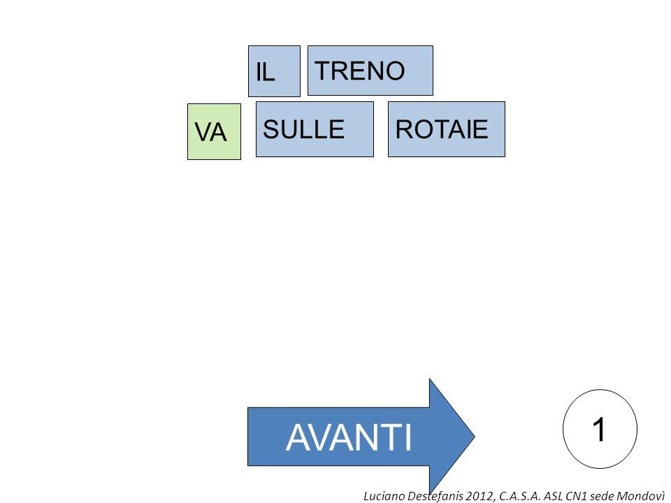 1 AVANTI IL TRENO VA SULLEROTAIE Luciano Destefanis 2012, C.A.S.A. ASL CN1 sede Mondovì