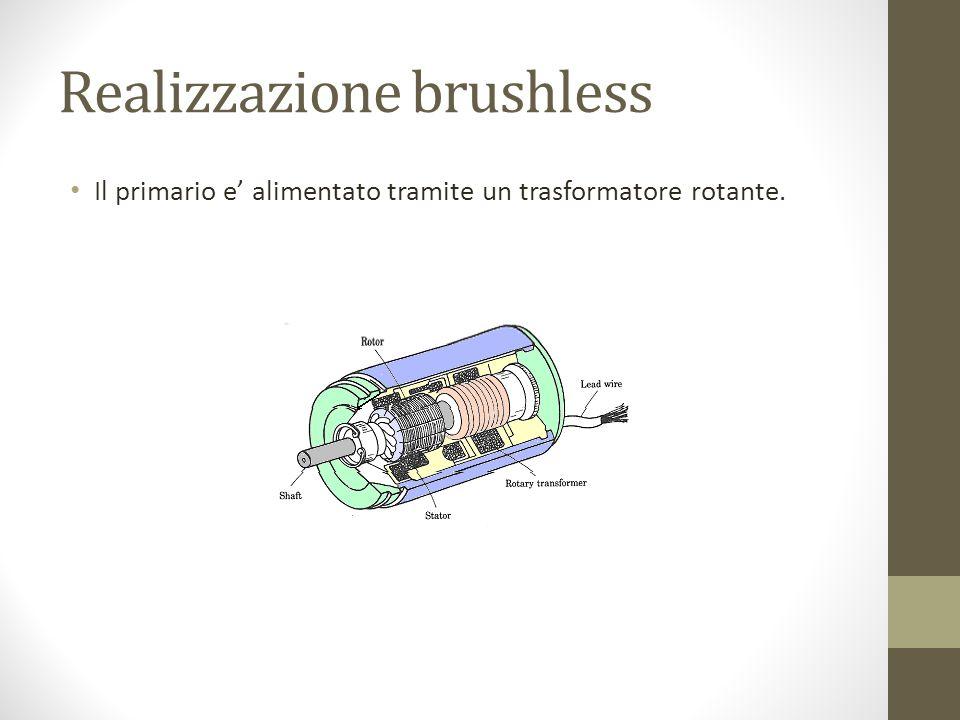 Realizzazione brushless Il primario e alimentato tramite un trasformatore rotante.