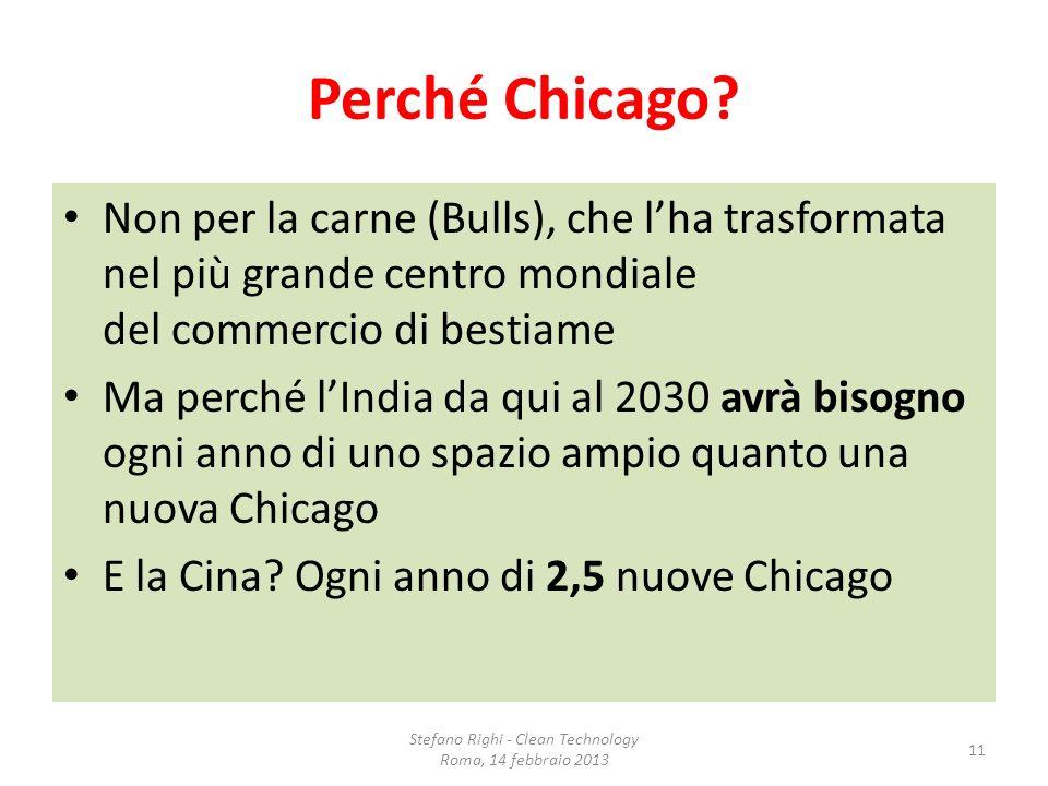 Perché Chicago? Non per la carne (Bulls), che lha trasformata nel più grande centro mondiale del commercio di bestiame Ma perché lIndia da qui al 2030