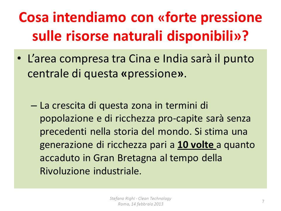 Due casi italiani/1 ERG – Famiglia Garrone, privati raffinatori di petrolio, commercianti di benzina – Nel 2008 la svolta che hanno portato Erg a essere leader nella produzione di energia EOLICA in Italia – 1.064 milioni di euro investiti nel 2012, il 38% del totale degli investimenti Stefano Righi - Clean Technology Roma, 14 febbraio 2013 18