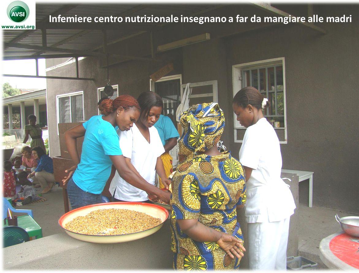 11 Infemiere centro nutrizionale insegnano a far da mangiare alle madri