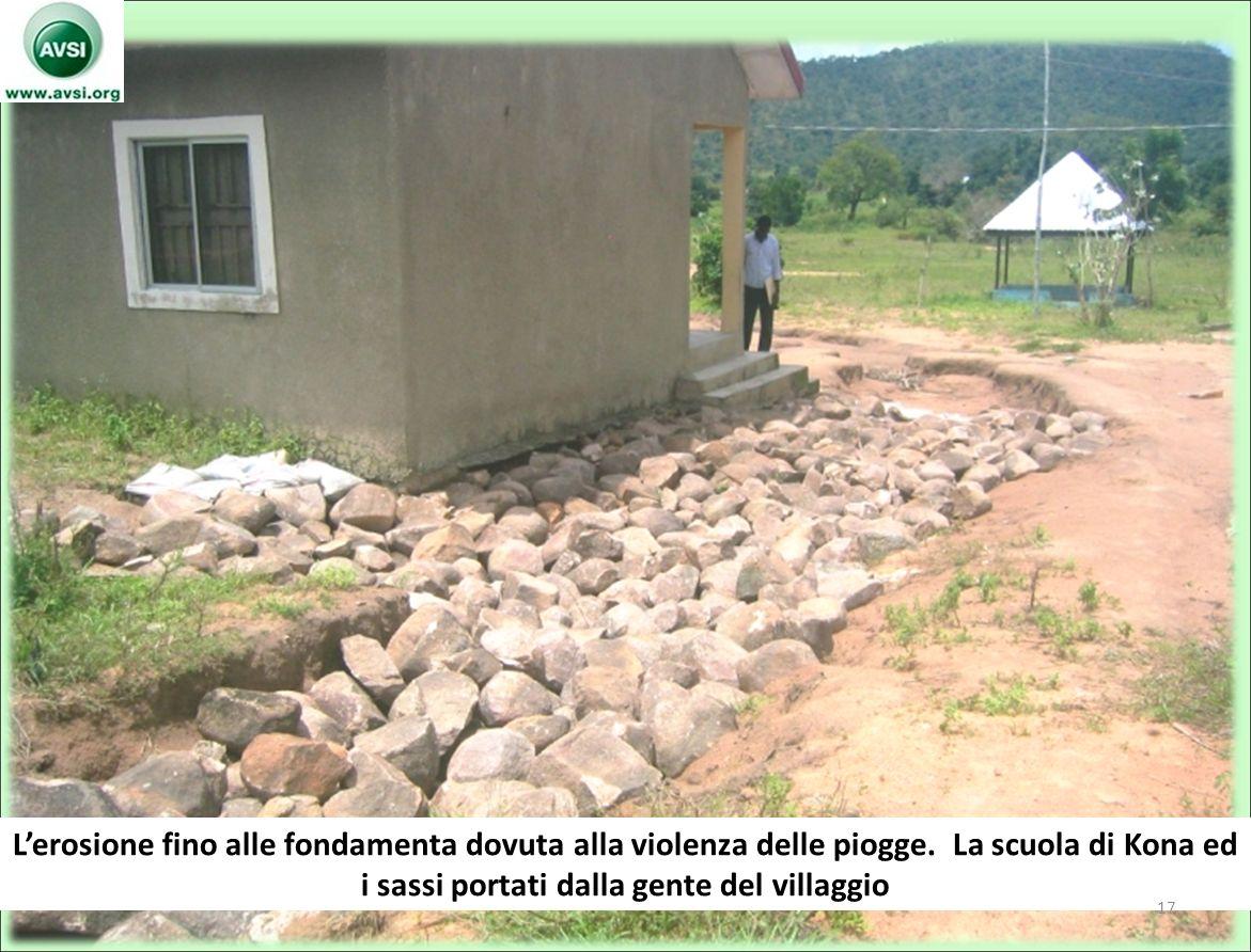 Lerosione fino alle fondamenta dovuta alla violenza delle piogge.