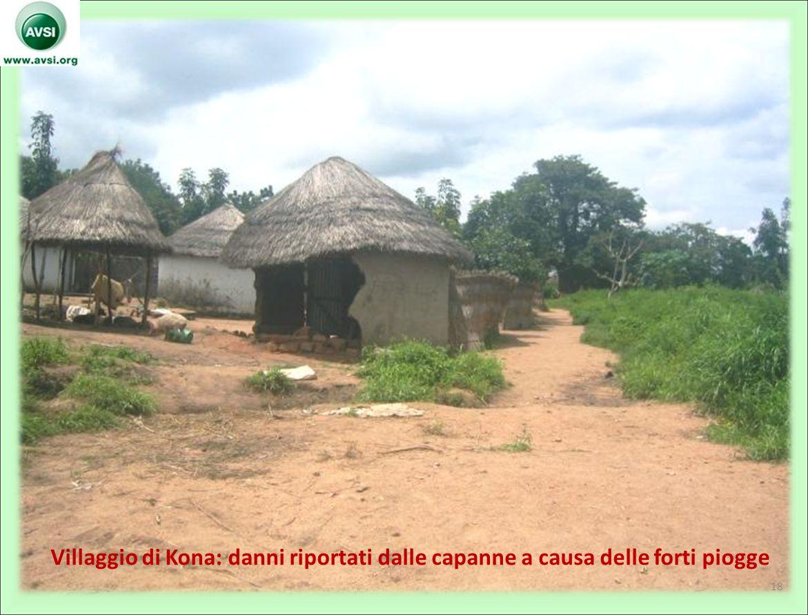Villaggio di Kona: danni riportati dalle capanne a causa delle forti piogge 18