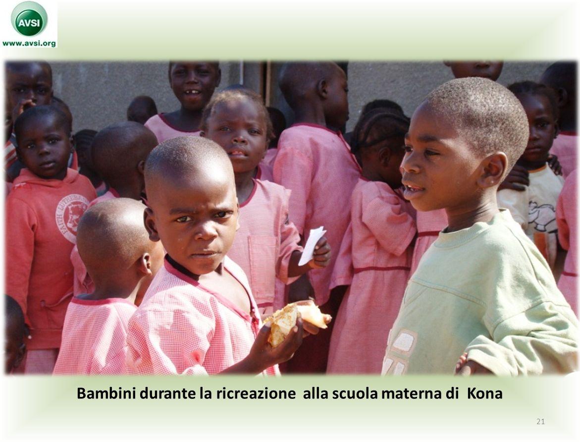 Bambini durante la ricreazione alla scuola materna di Kona 21