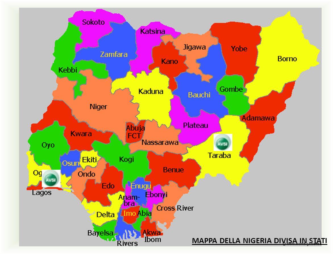 MAPPA DELLA NIGERIA DIVISA IN STATI 3