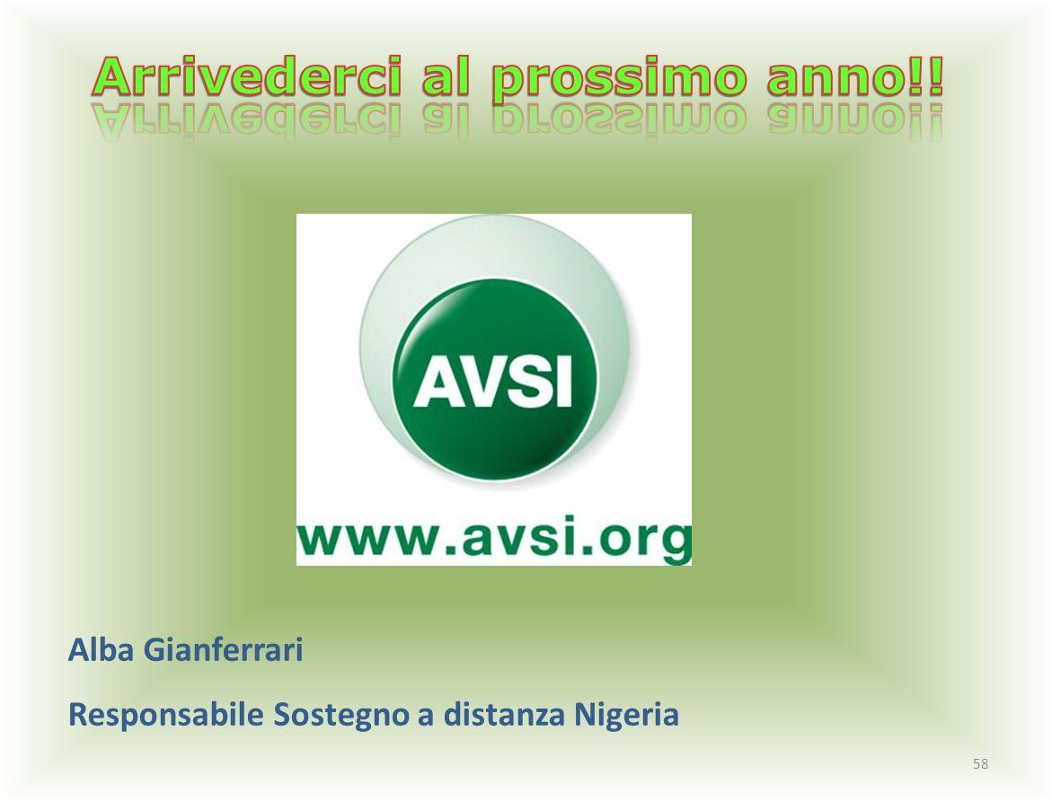58 Alba Gianferrari Responsabile Sostegno a distanza Nigeria